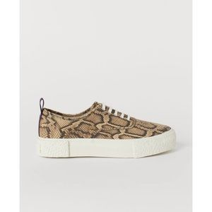 NEW H&M & Eytys gender neutral Snakeskin Sneakers